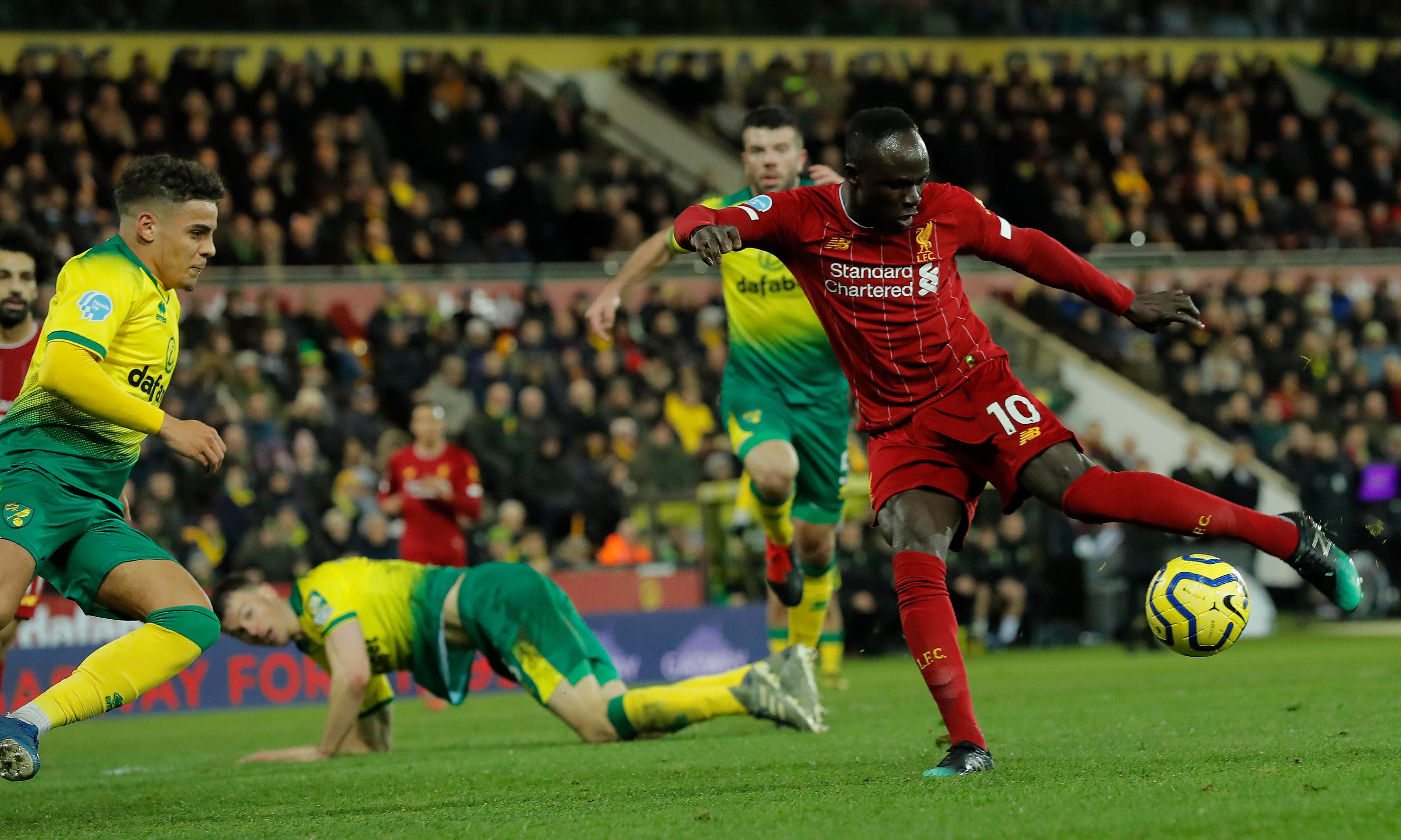 Sadio Mané ensures Liverpool go 25 points clear at top with win at Norwich