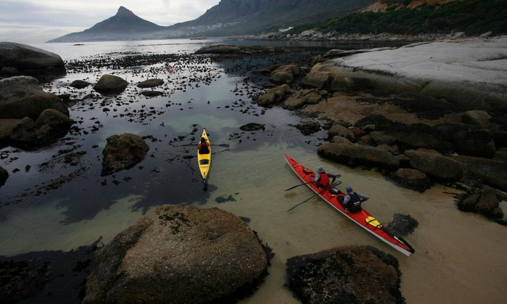 Kayakers at Oudekraal beach