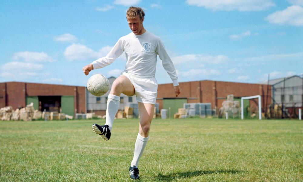 Jack Charlton in training at Leeds United in 1969.