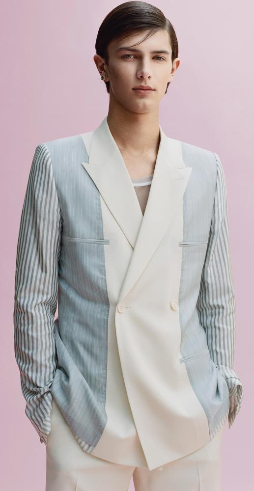 A design from Kim Jones's spring/summer 2019 collection for Dior, modelled by Prince Nikolai of Denmark.