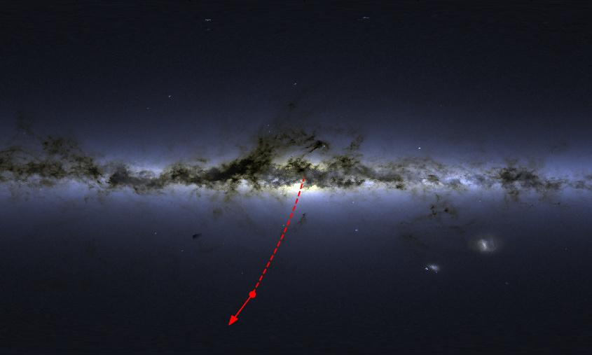 Superfast star found leaving Milky Way at 1,700km per second