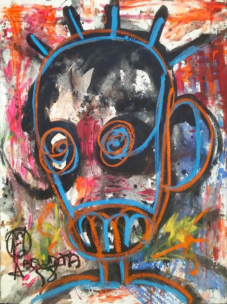 Môgô Dakar #1, 20 by the New York-based Ivorian artist Aboudia.