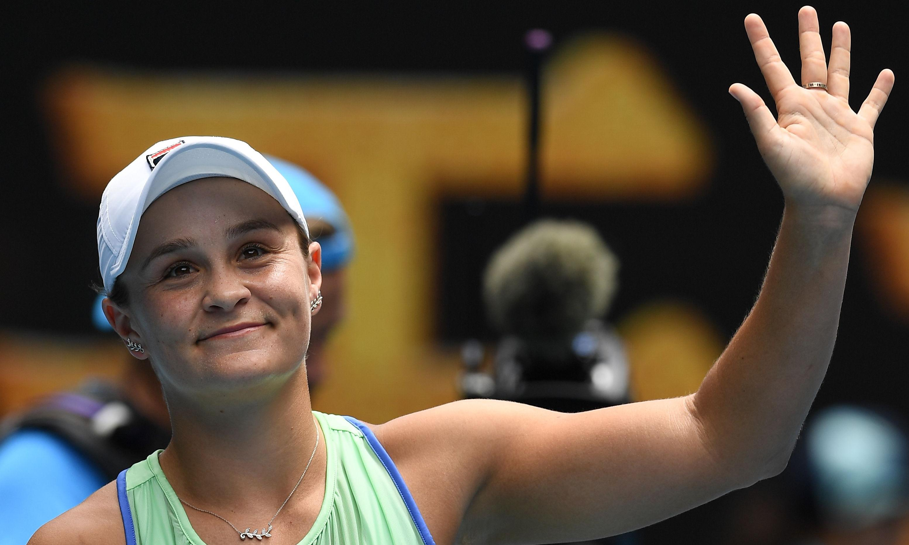 Ashleigh Barty strolls into Australian Open third round with easy win