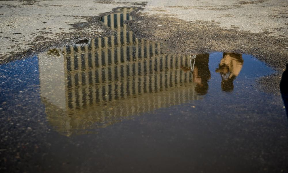 Picture of a reflection of the US embassy in Havana. Diplomatic staff have been withdrawn in response to what the US has called 'sonic attacks'.