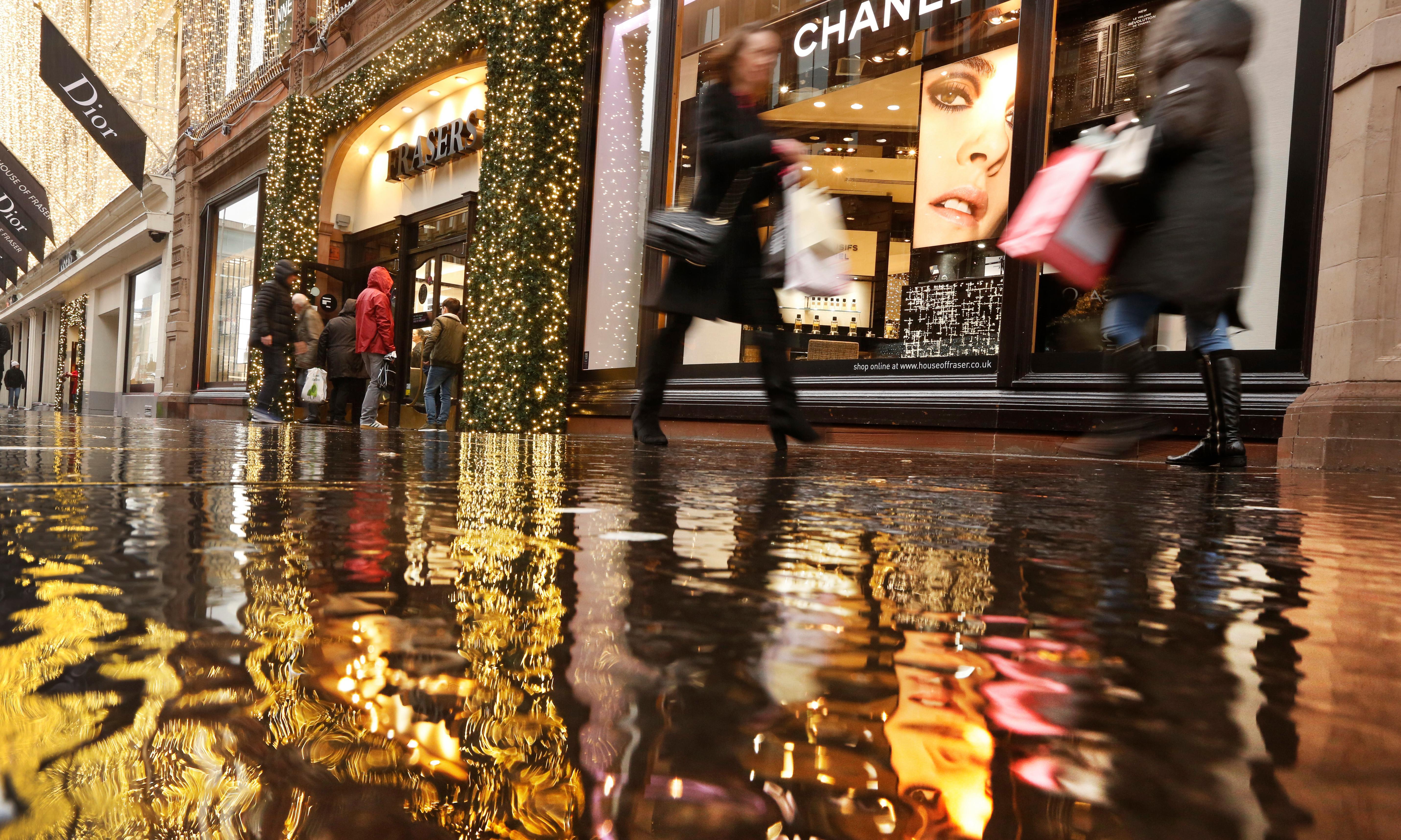 Rainy November adds to high street gloom as shopper numbers fall