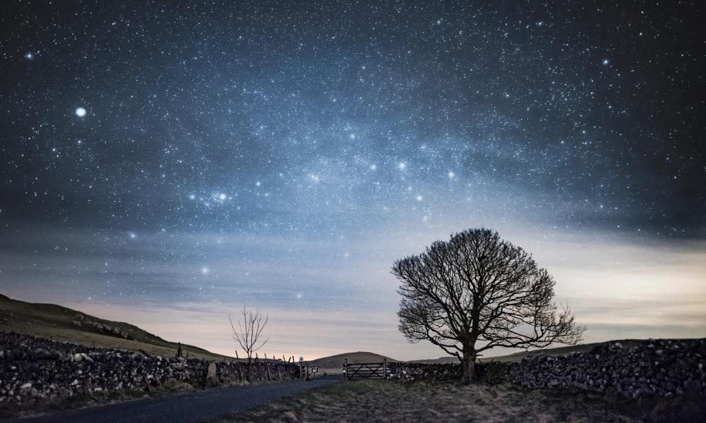 Stunning night at Malham in North Yorkshire, with lots of stars and the Milky Way.
