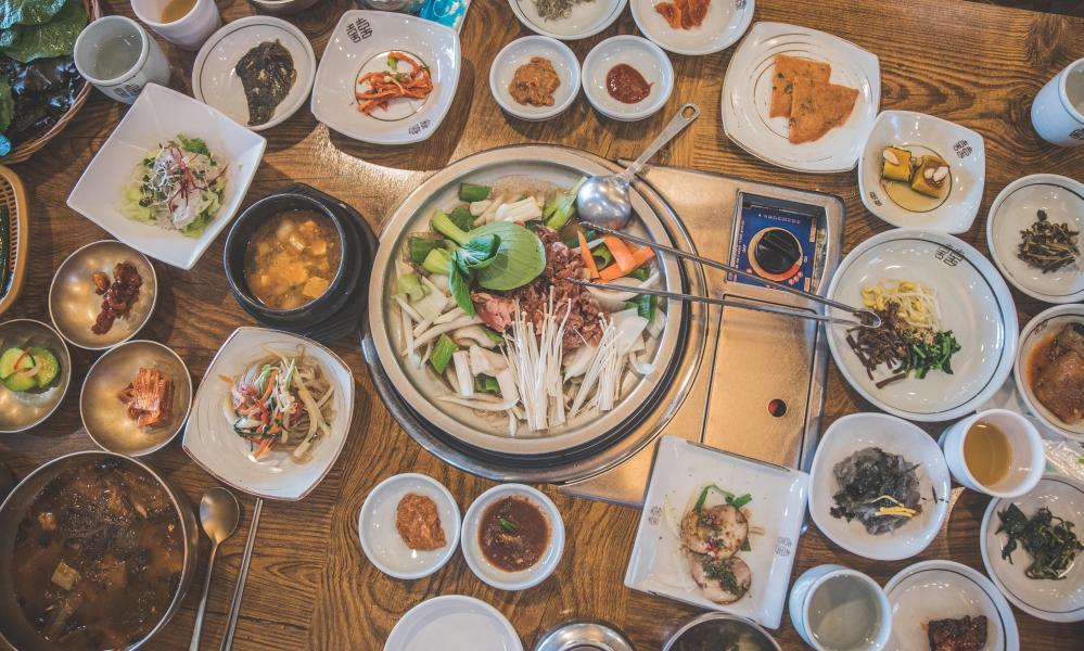 Korean side dishes, or banchan