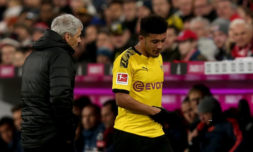 Dortmund's Jadon Sancho looked off the pace before being replaced after just 35 minutes.