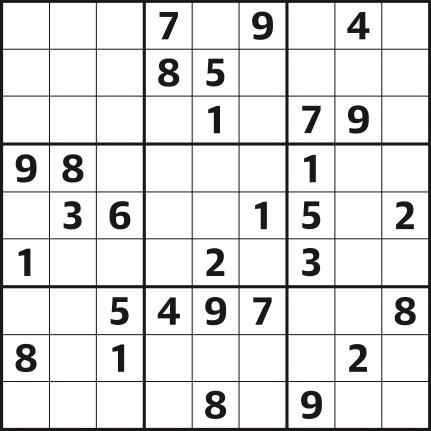 Sudoku 4,394 easy