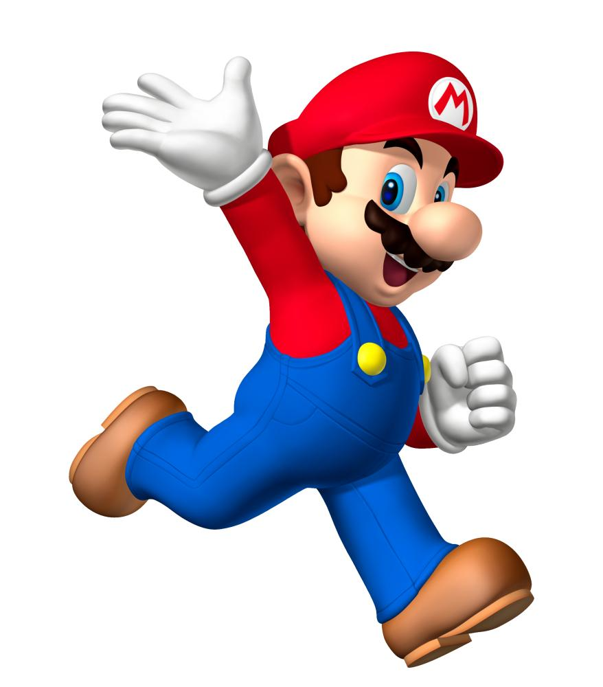 Super Mario waving