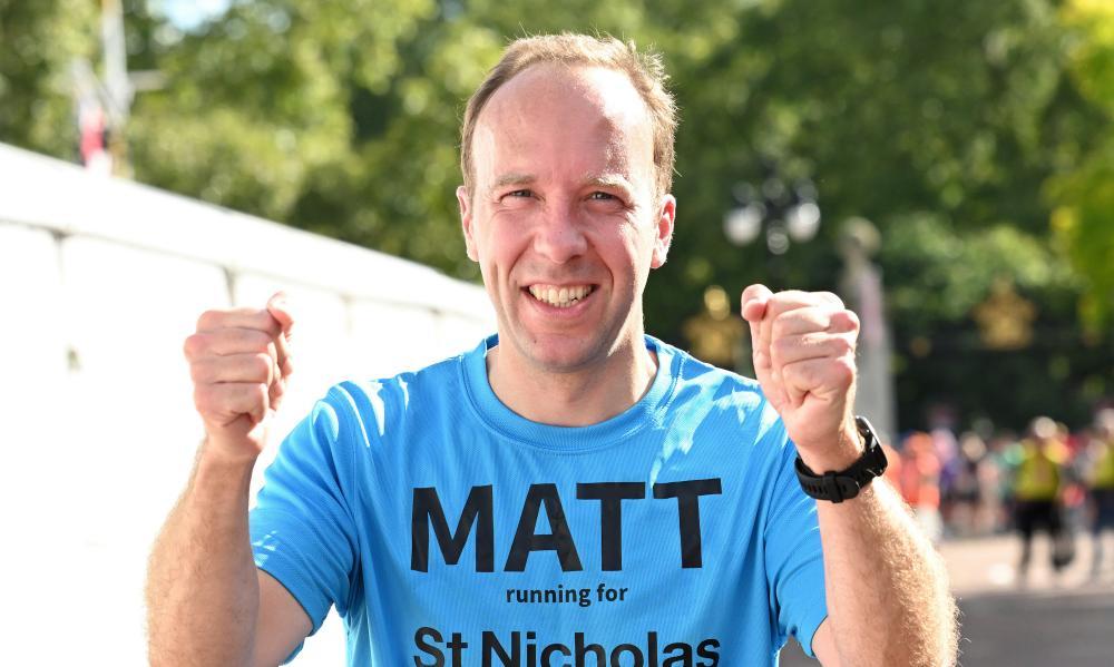 Matt Hancock completes the London Marathon 2021 on 3 October.