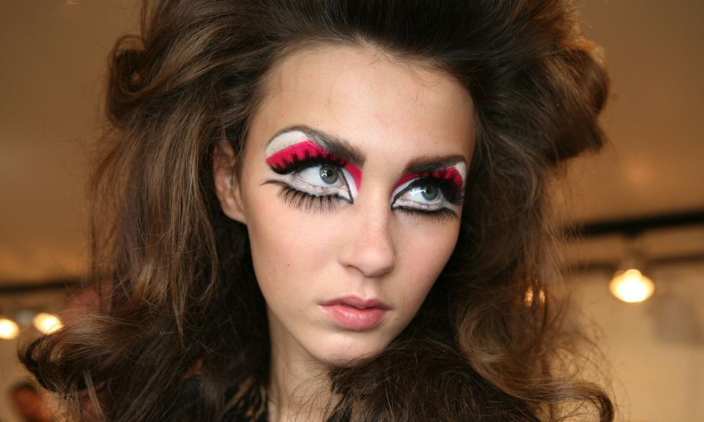 A model with makeup by McGrath at Christian Dior show, 2008.