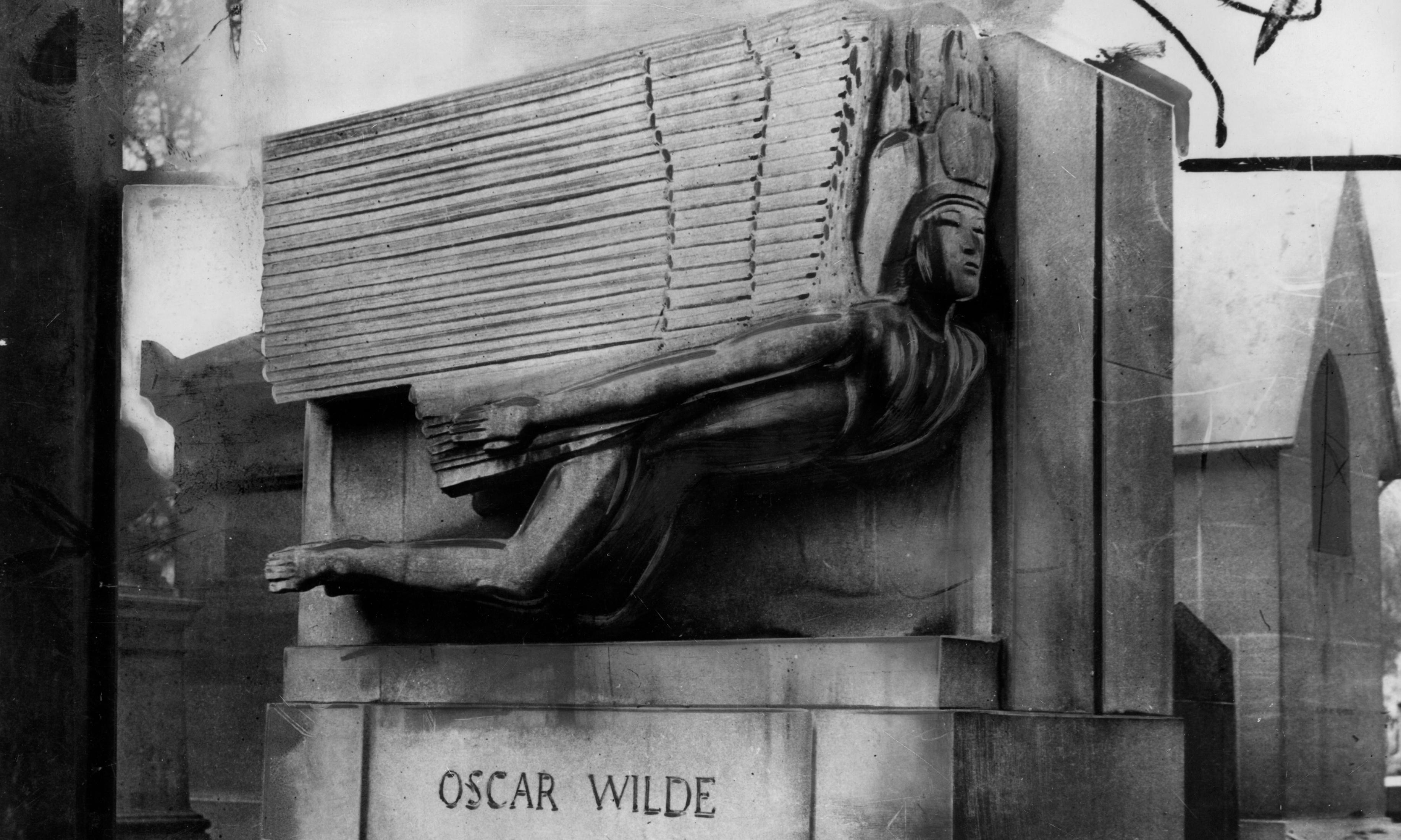 Memorial for Oscar Wilde's grave in Paris – archive, 12 February 1912