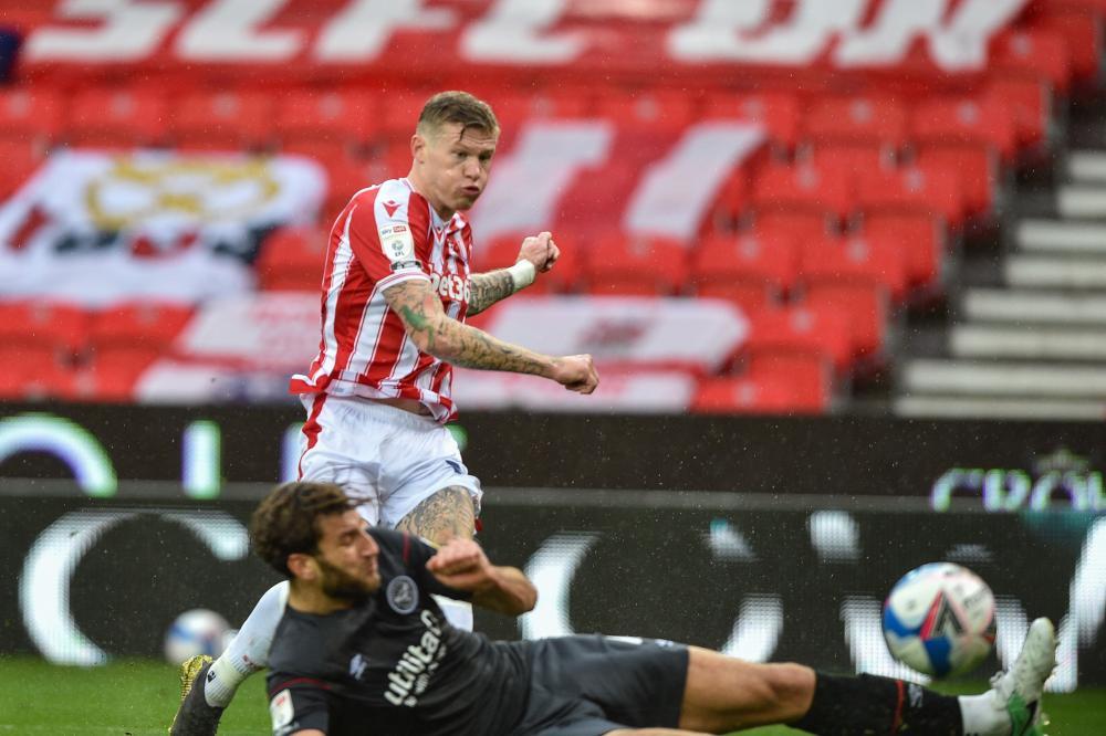 James McClean of Stoke City makes it 2-0 .
