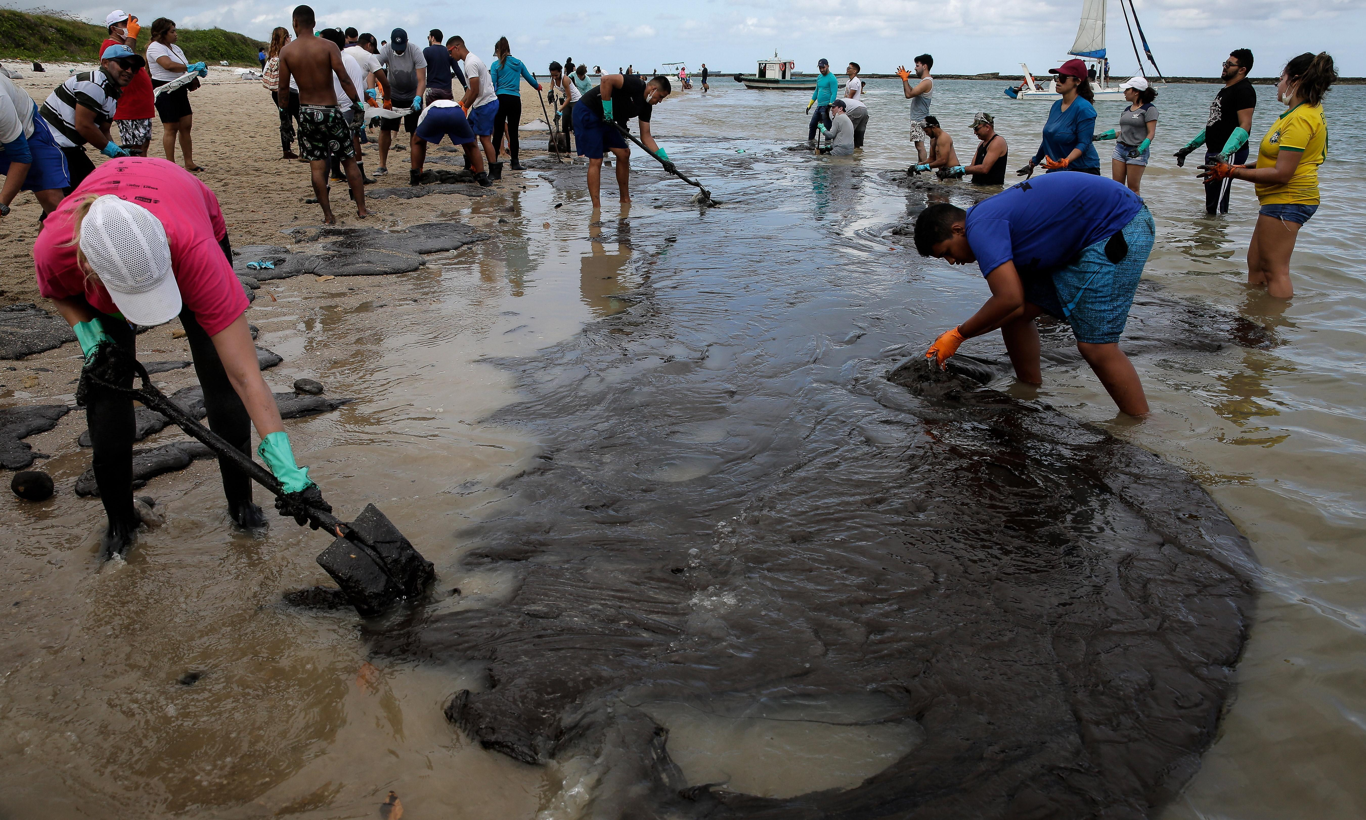 Brazilians rally to clean beaches amid outrage at Bolsonaro's oil spill inaction