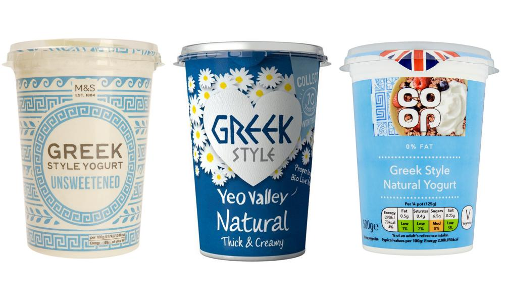 Greek-style yogurts