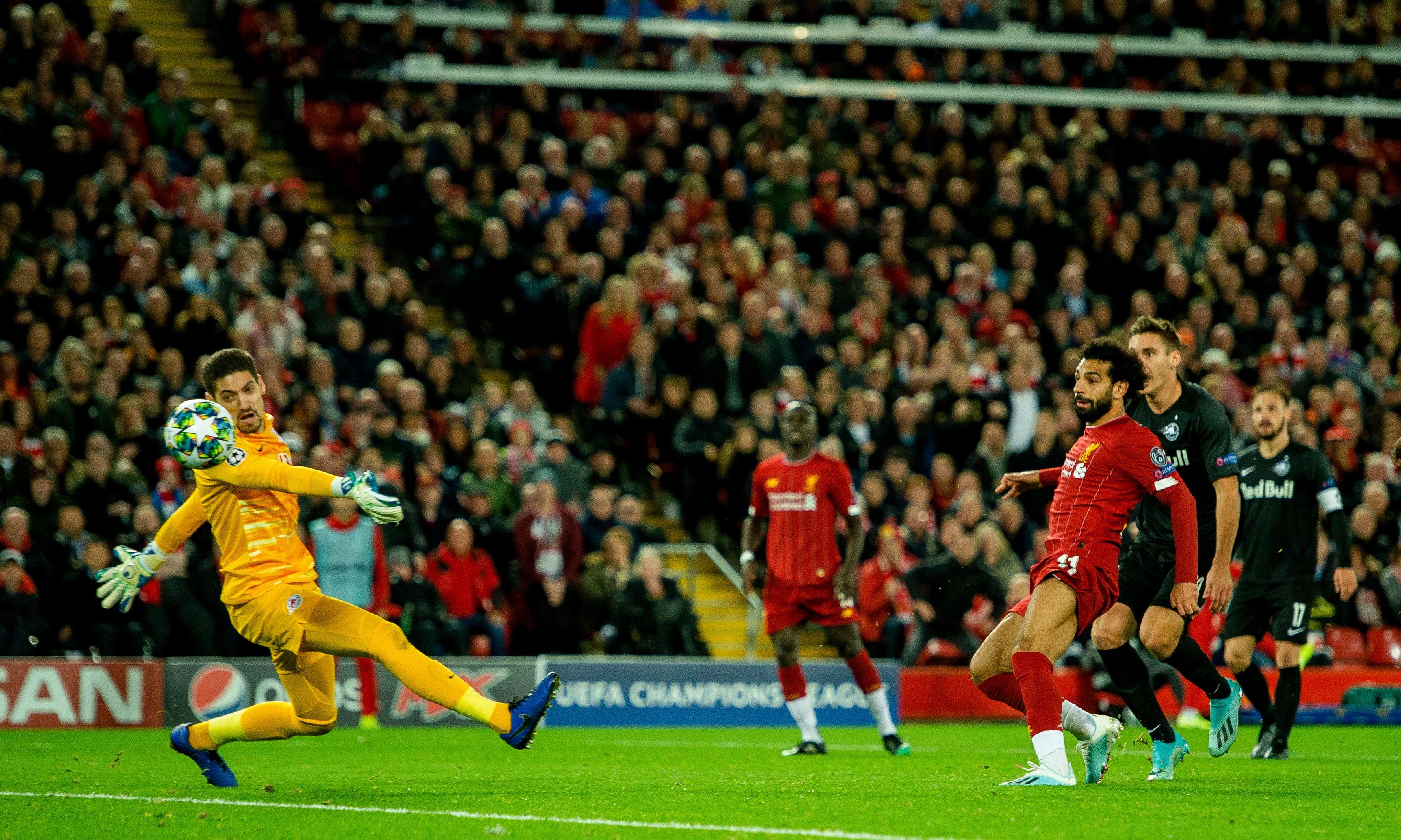 Mo Salah earns jittery Liverpool 4-3 win after RB Salzburg storm back