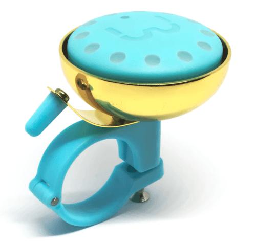 blubel handlebar mounted seafoam gold coloured bell navigation system