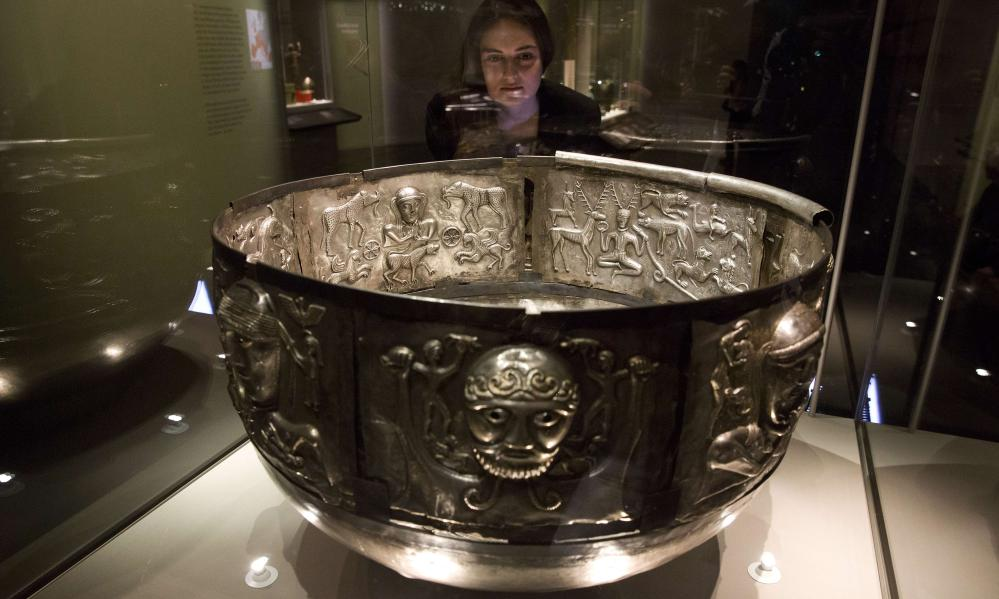 The Gundestrup cauldron in the British Museum's Celts exhibition
