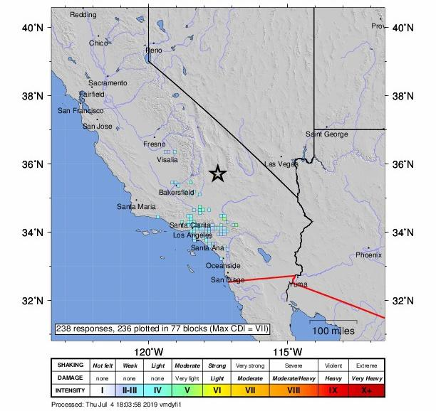 Southern California rattled by 6.4-magnitude earthquake