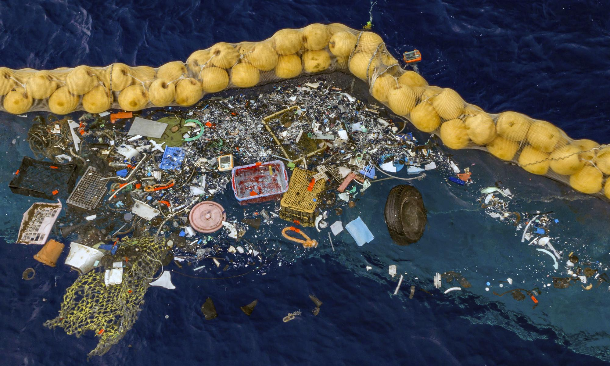 Ocean cleanup device successfully collects plastic for first time