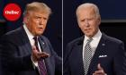 President Donald Trump, left, and former Vice President Joe Biden during the first presidential debate at Case Western University and Cleveland Clinic, in Cleveland, Ohio