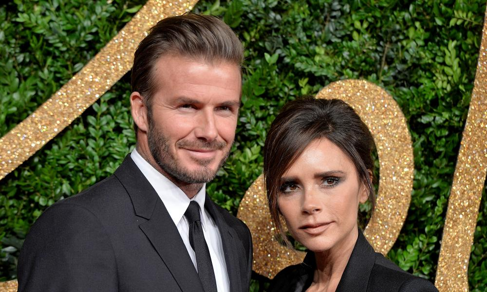 Blend it like Beckham: David Beckham and Victoria Beckham. 'David 100% steals my beauty products,' she says.