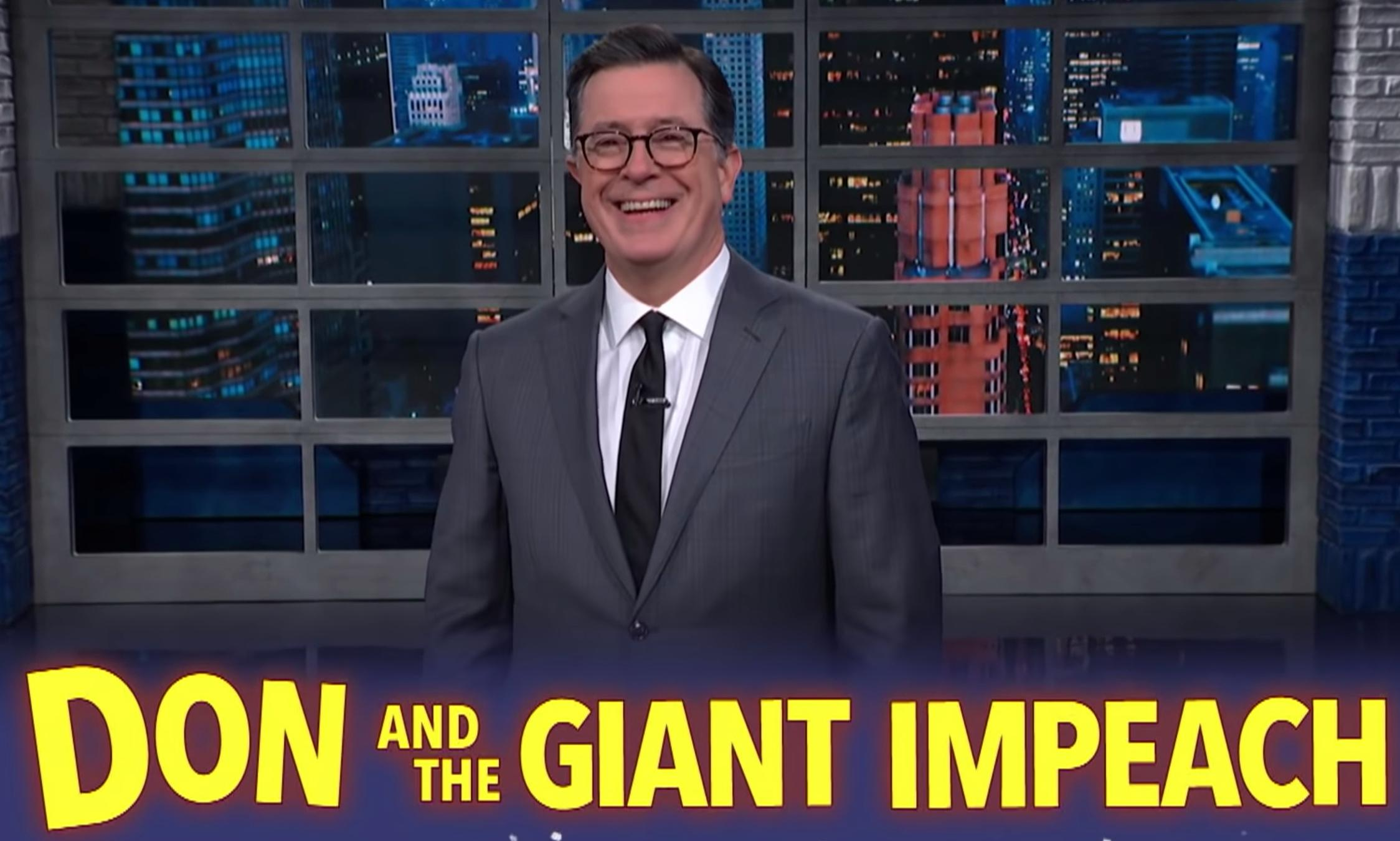 Colbert on Trump's behaviour: 'Oh my God, did he have sex with Ukraine?'