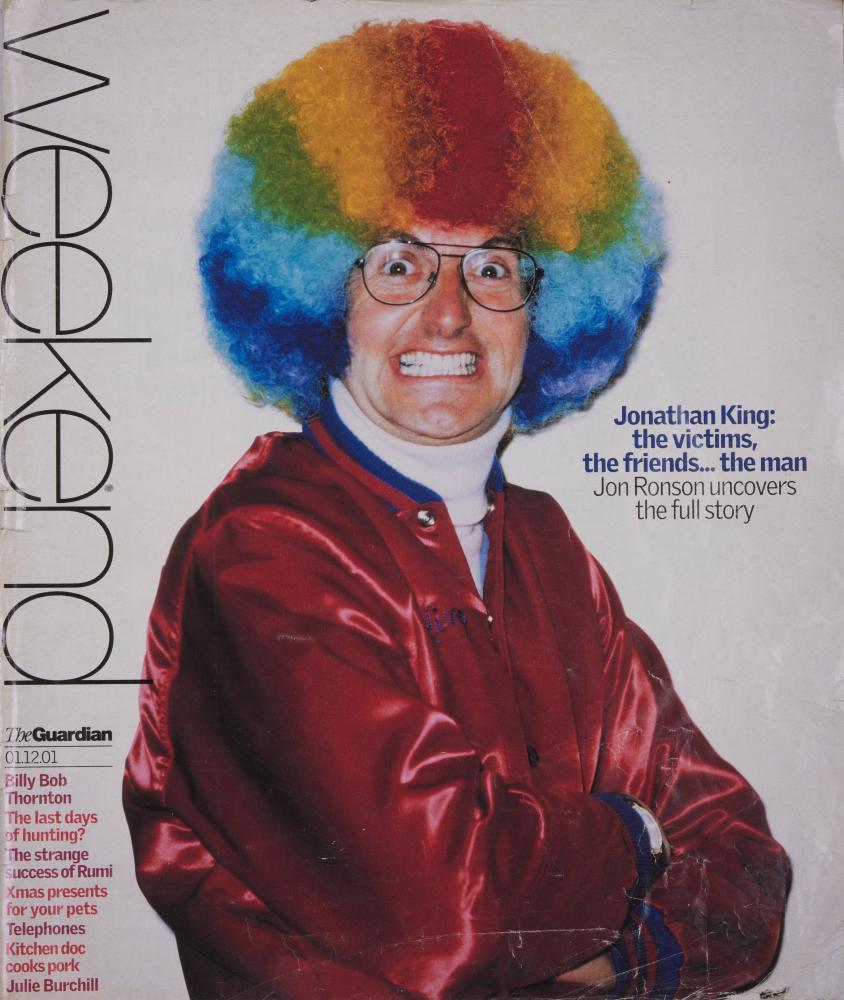 Jonathan King, Weekend magazine cover, 2001