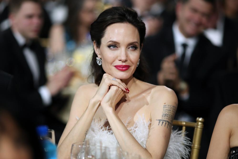 Angelina Jolie at the Critics' Choice awards in January