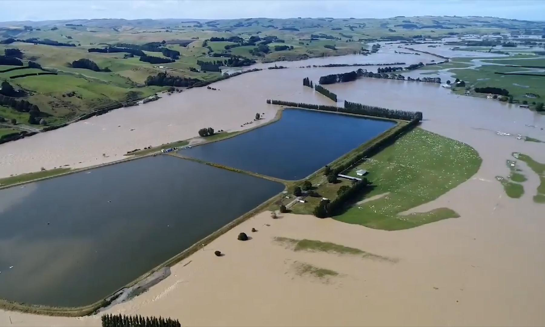New Zealand floods: first ever red weather warning issued as thousands evacuated