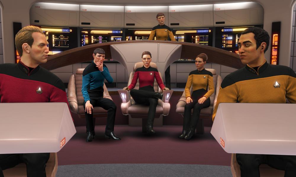 Make it so ... Star Trek: Bridge Crew.