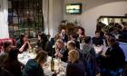 Diners at an Italian Supper Club