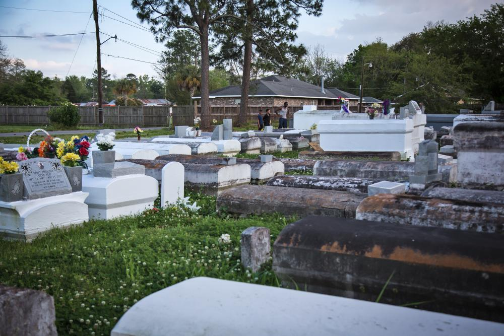 The cemetery in Reserve, Louisiana, part of the St John the Baptist parish.