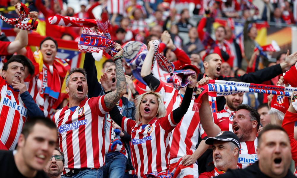 Atletico Madrid fans.