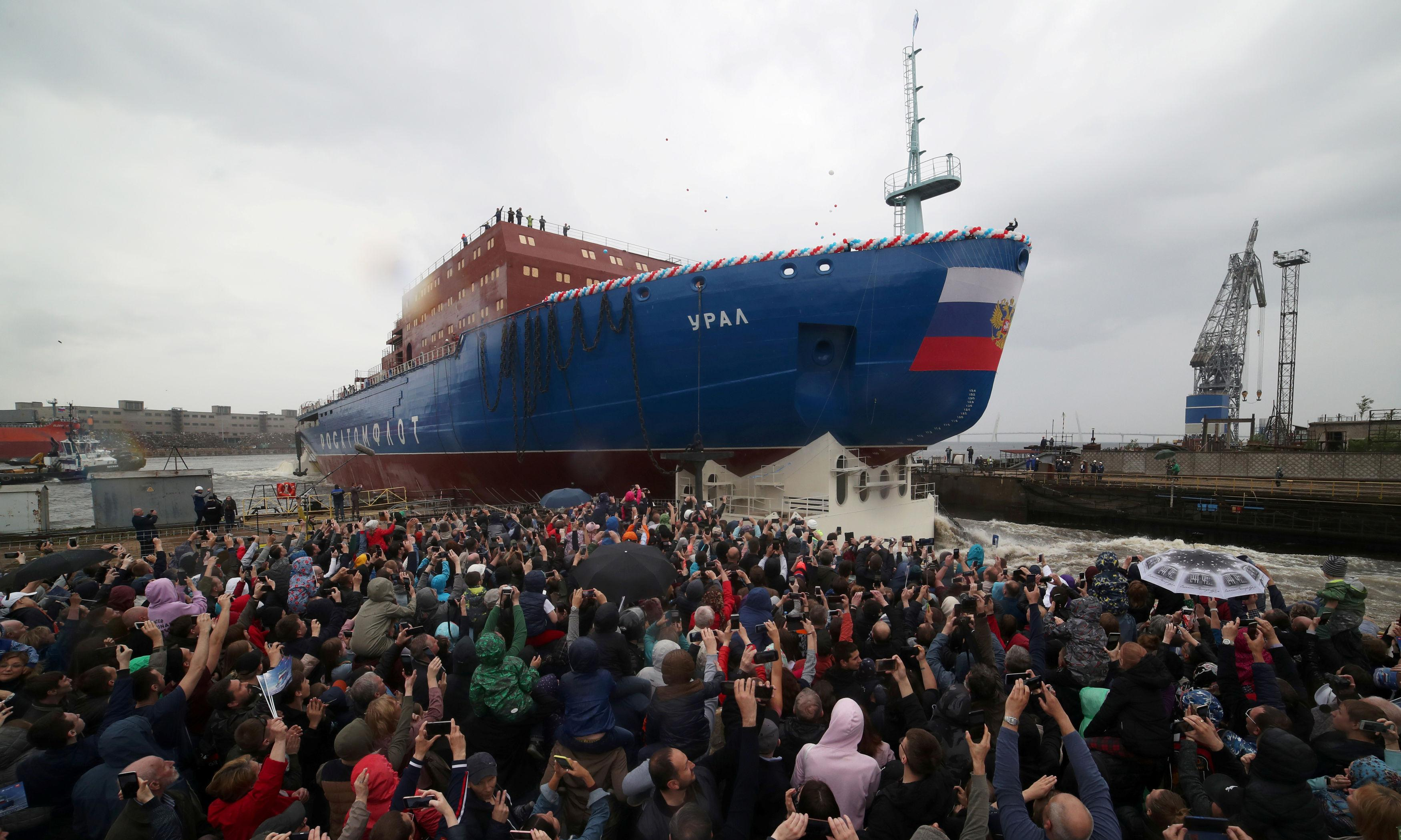 Russia launches new nuclear-powered icebreaker in bid to open up Arctic