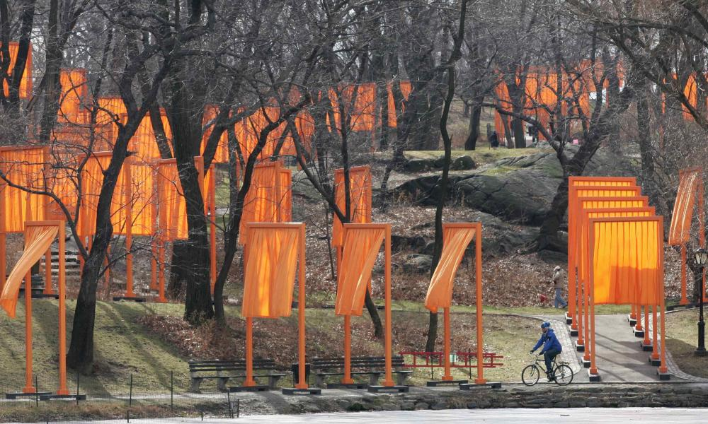 The Gates, 2005, by Christo, in Central Park, New York.