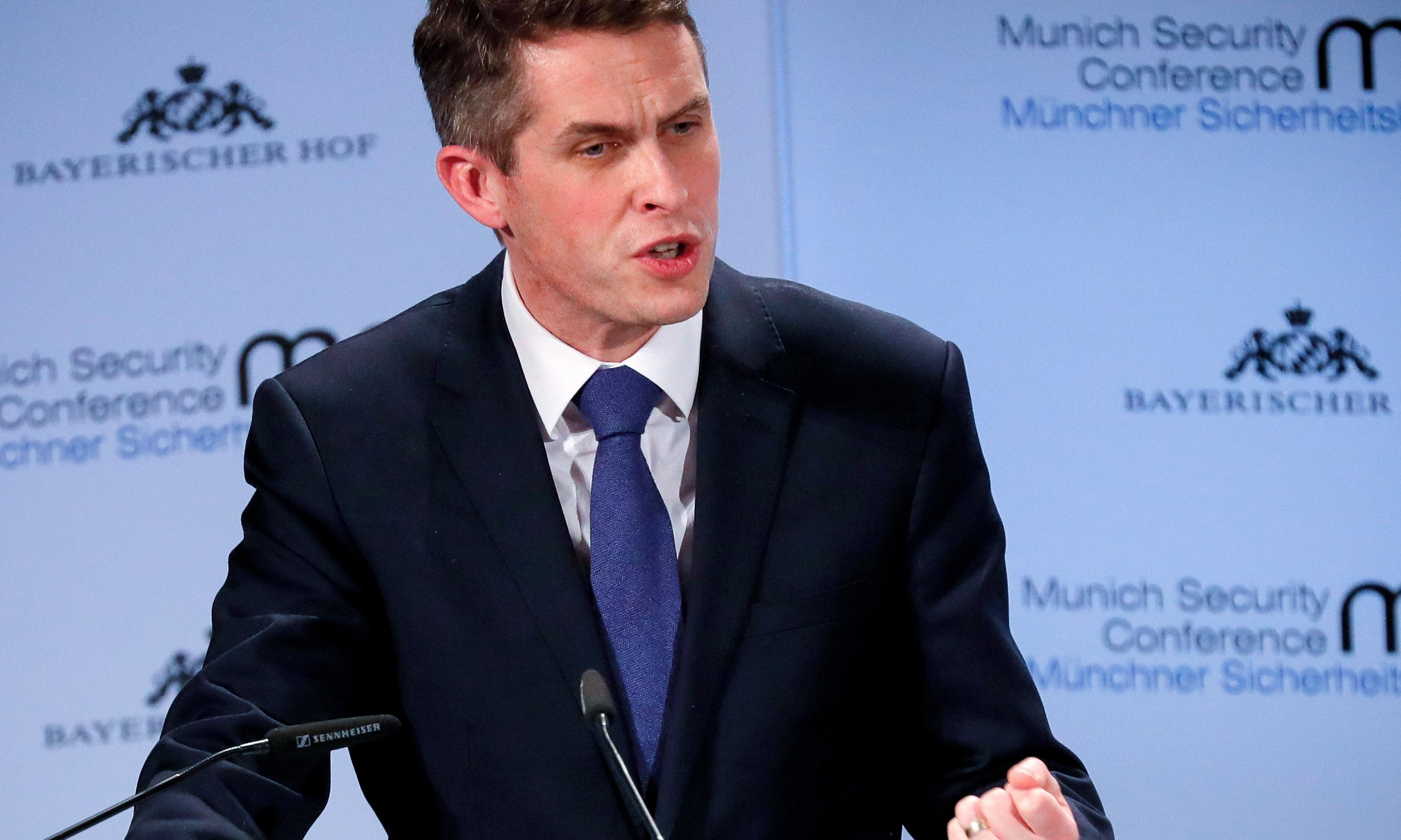 Gavin Williamson at centre of row over chancellor's cancelled China trip