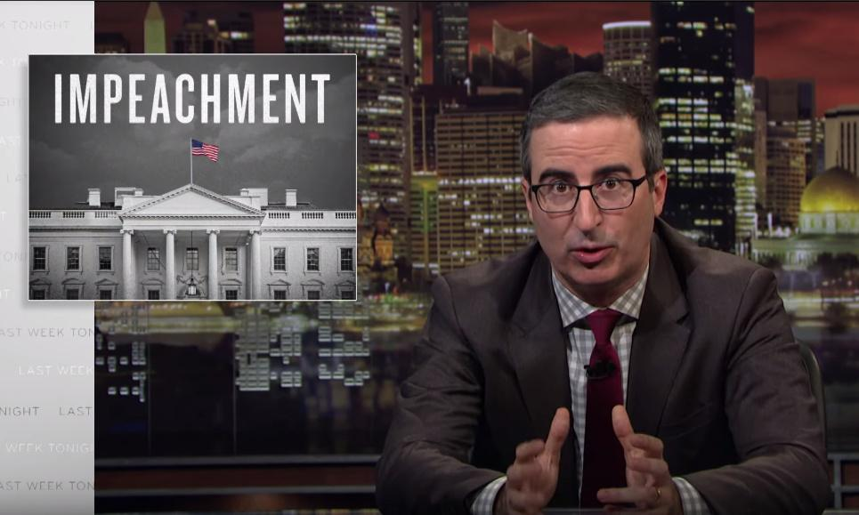 John Oliver on impeachment: 'The case for inaction is starting to get weak'