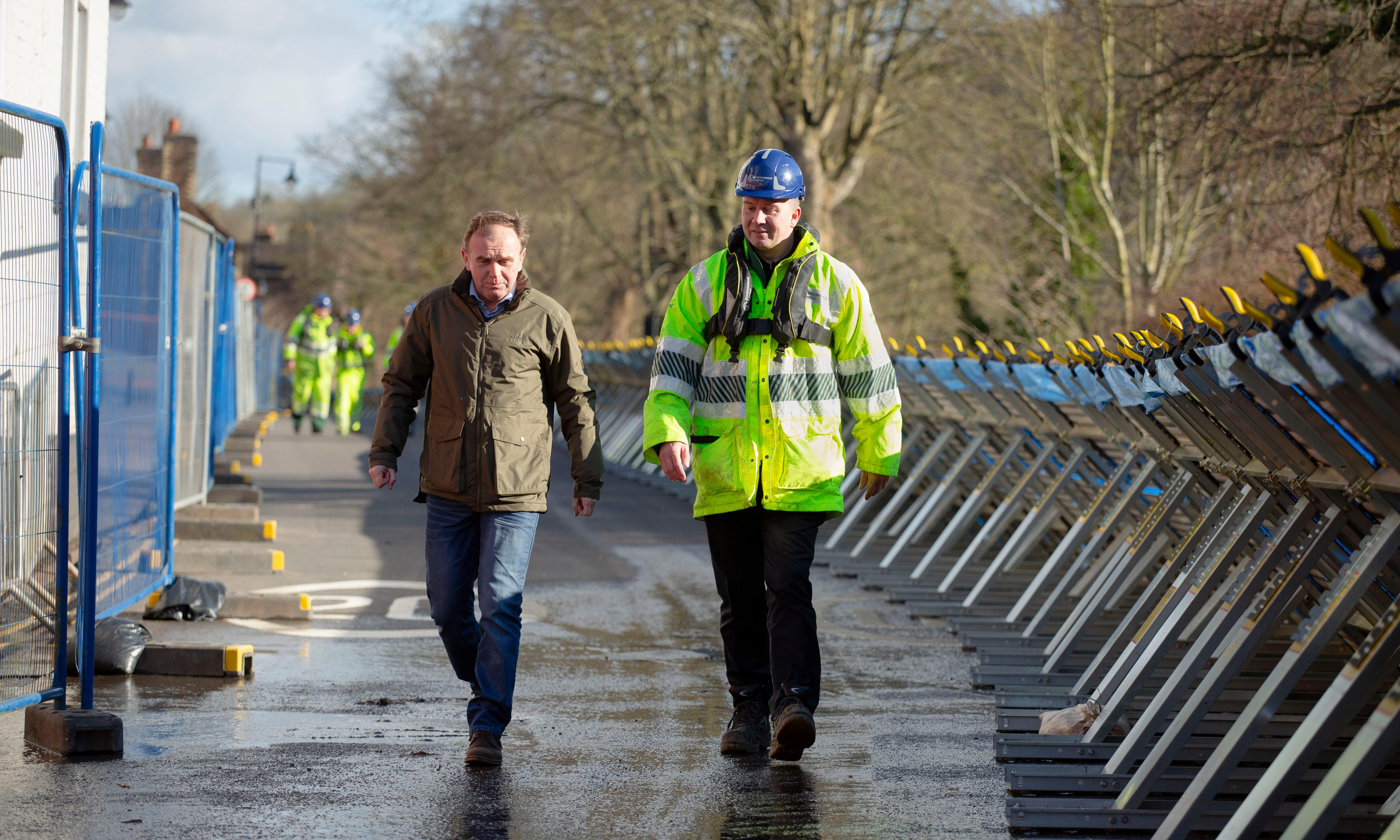 Minister criticised for not meeting evacuees on visit to flood-hit town