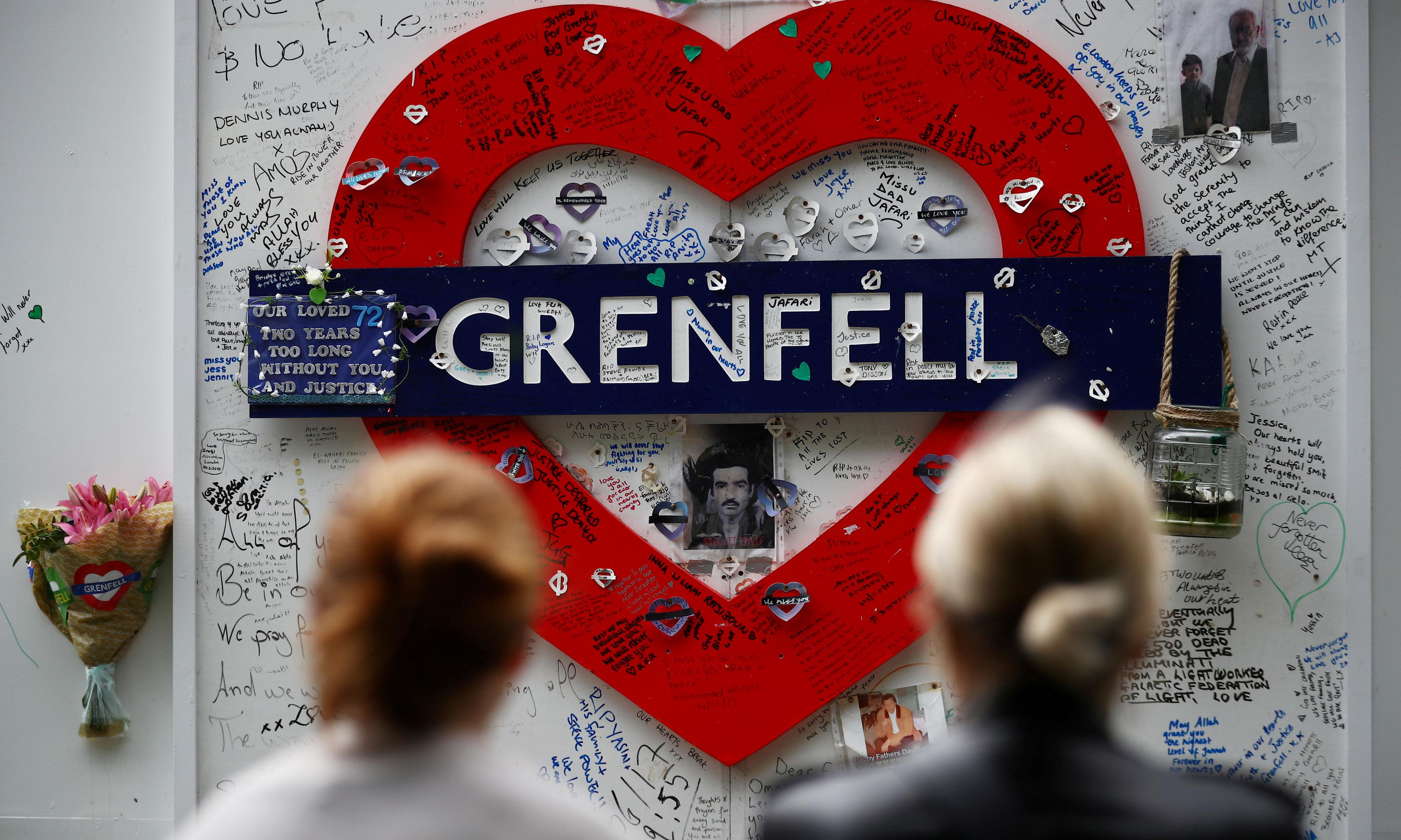 Grenfell survivors housed in flats with high fire risk, report finds