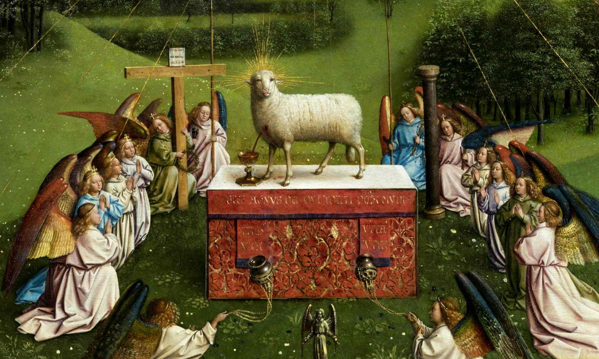 Lamb of (oh my) God: disbelief at 'alarmingly humanoid' restoration of Ghent altarpiece