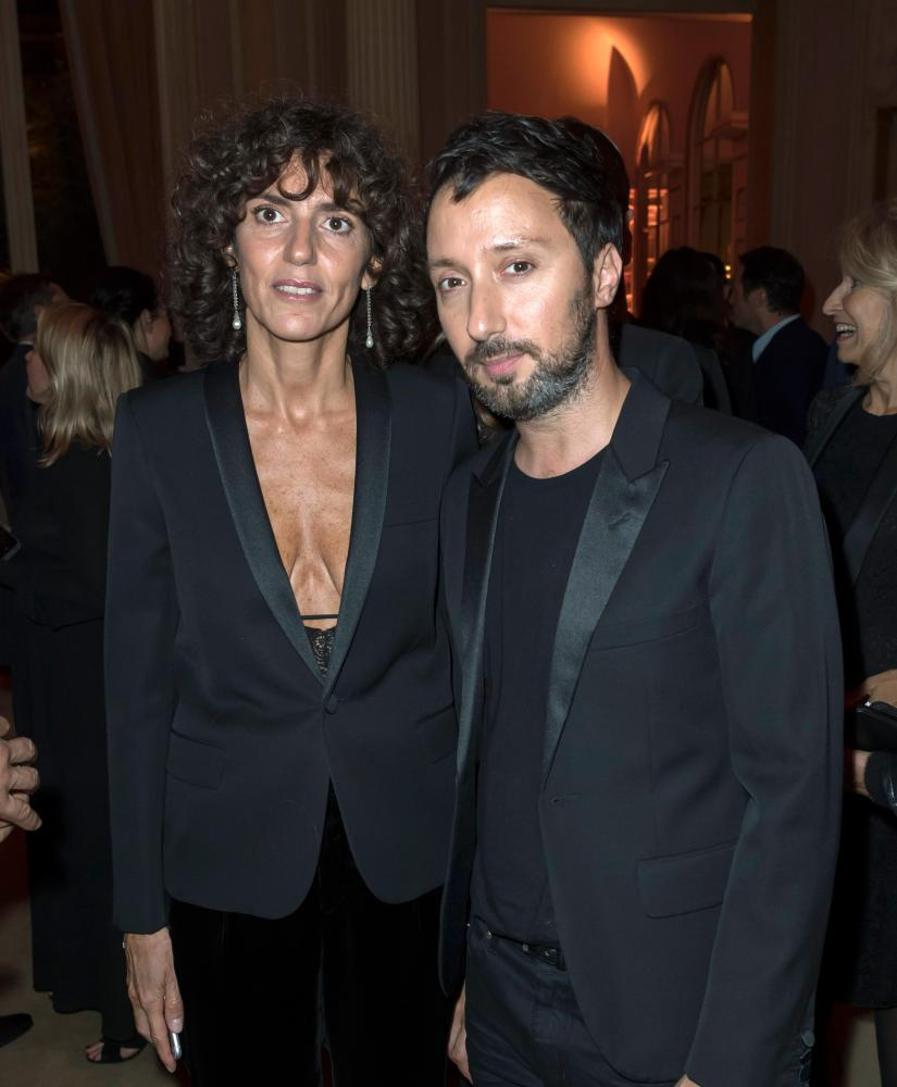 Saint Laurent's CEO, Francesca Bellettini, and creative director, Anthony Vaccarello, in 2017.