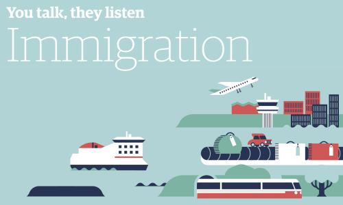 You talk, they listen - Immigration