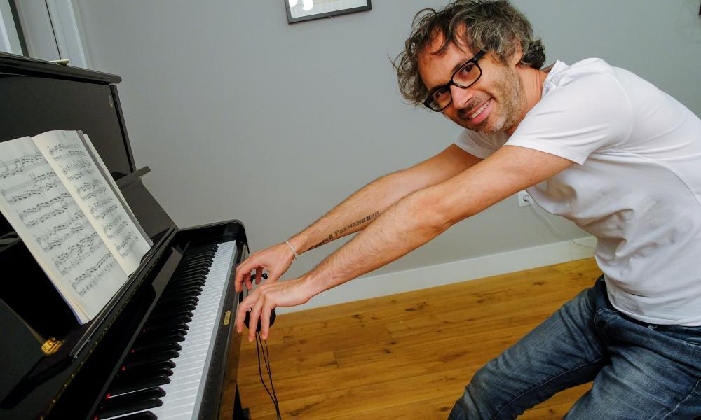 The pianist James Rhodes.