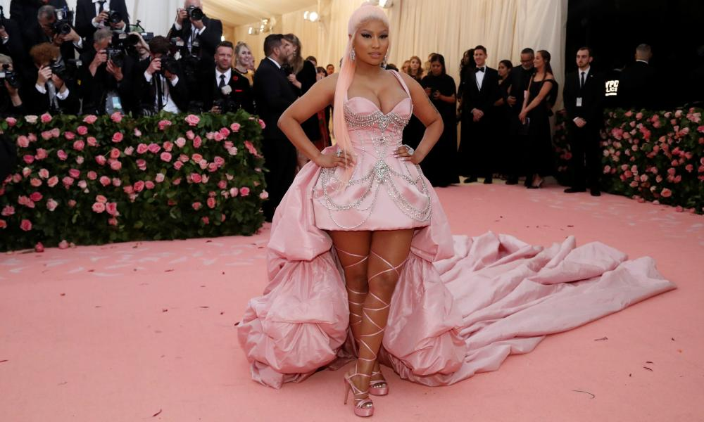 Nicki Minaj at the Met Gala in New York in 2019