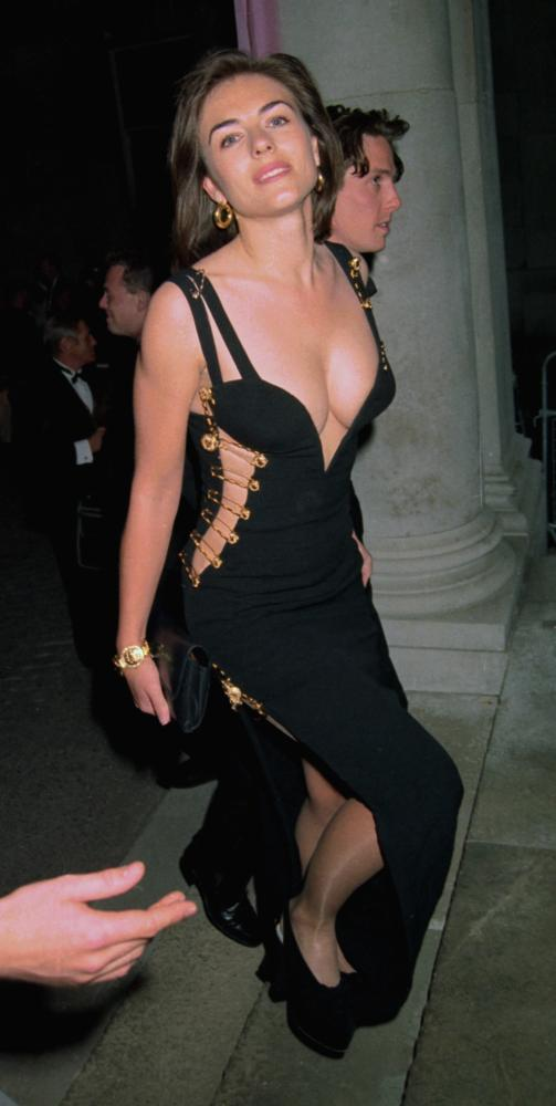 Liz Hurley's famous Versace dress.