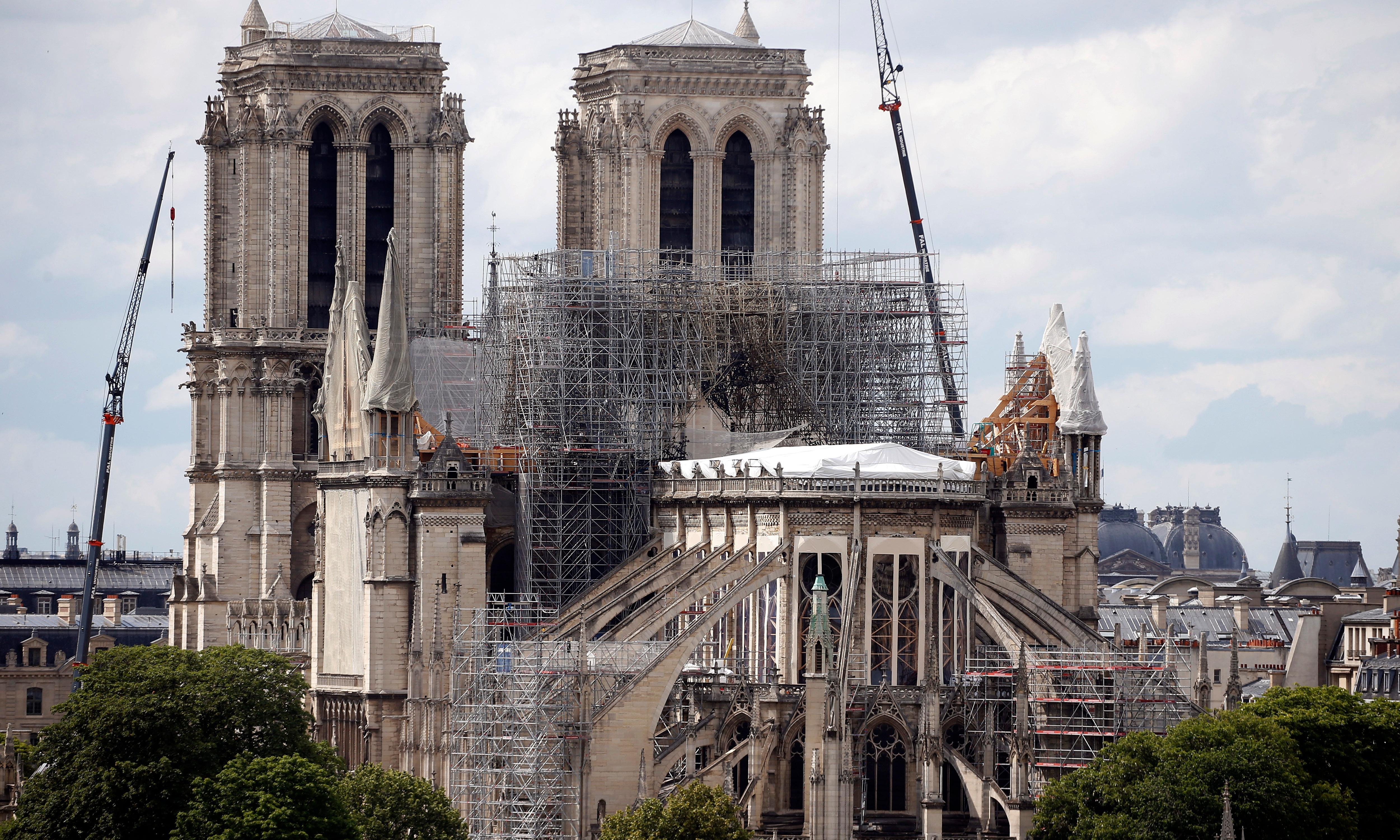 Priests in hard hats to attend Notre Dame's first mass since fire