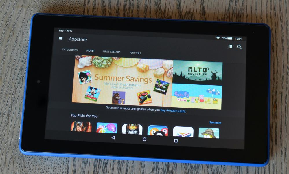 amazon fire 7 ülevaade