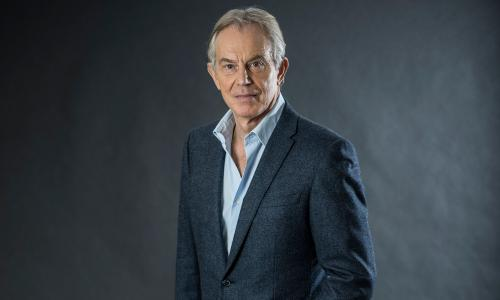 Former British Prime Minister Tony Blair pictured at the central London offices of Institute for Global Change, London.